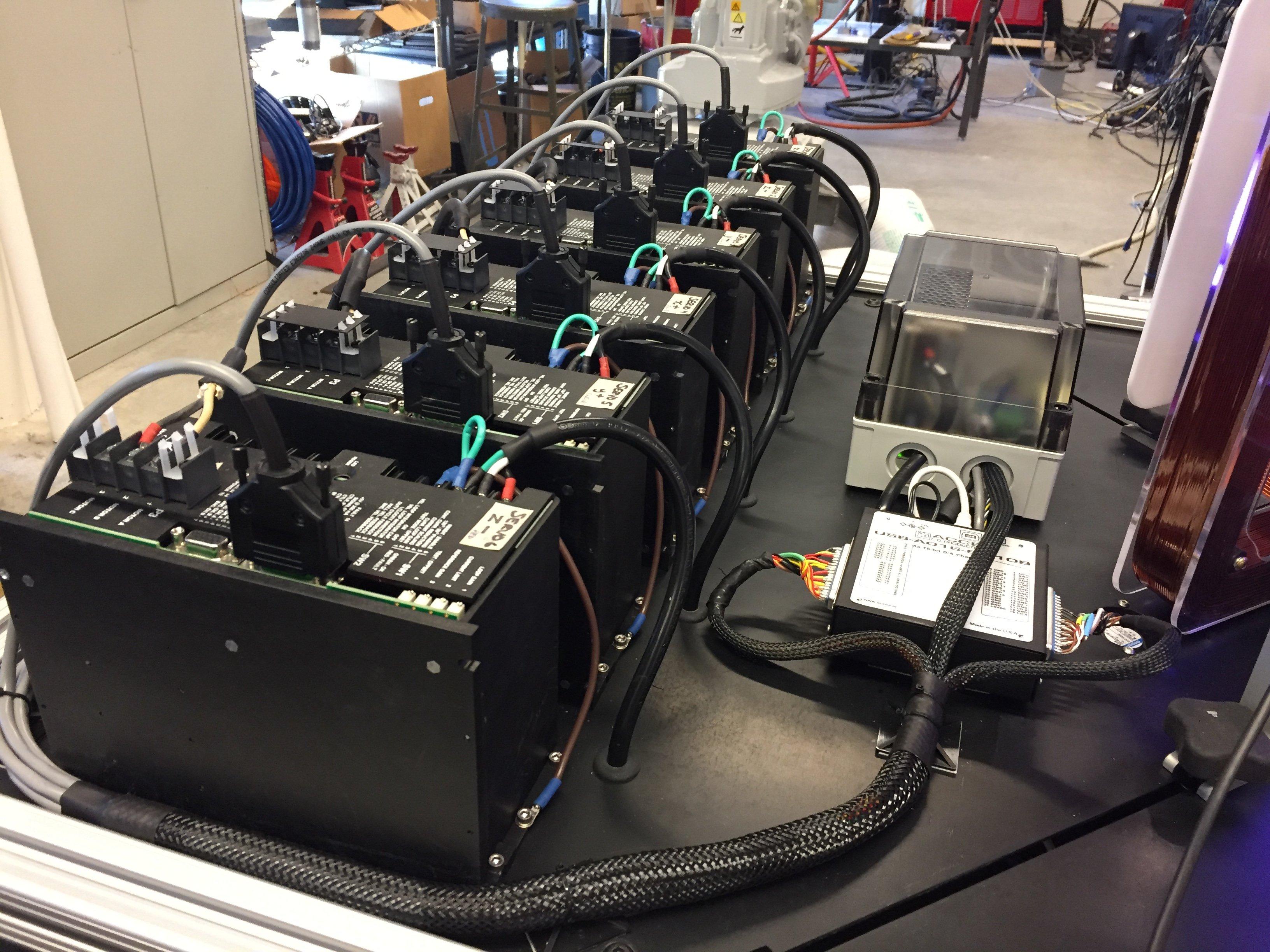 servo drives wired