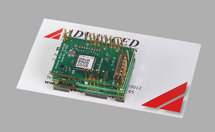 FlexPro PCB mount servo drive on business card