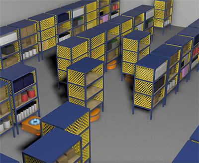 Servo Drive Robot Warehouse Automation